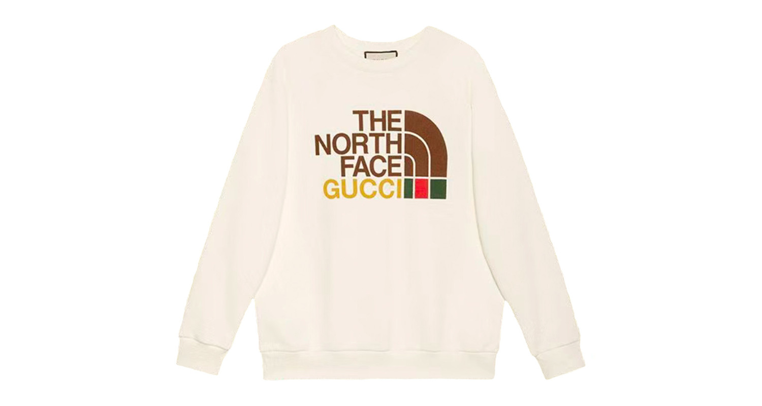 "Gucci x The North Face ""White Crewneck"""