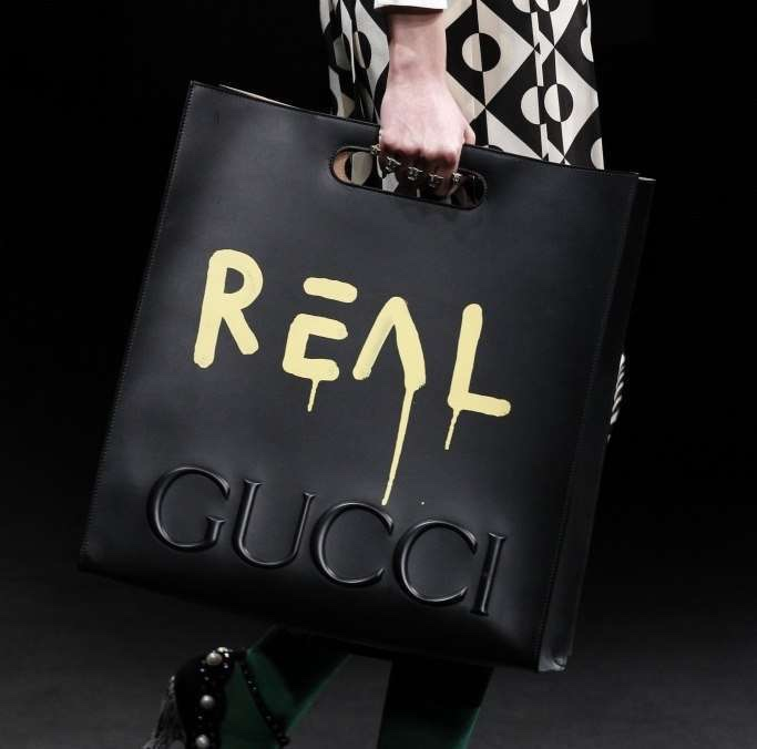Gucci fashion show REAL Bag