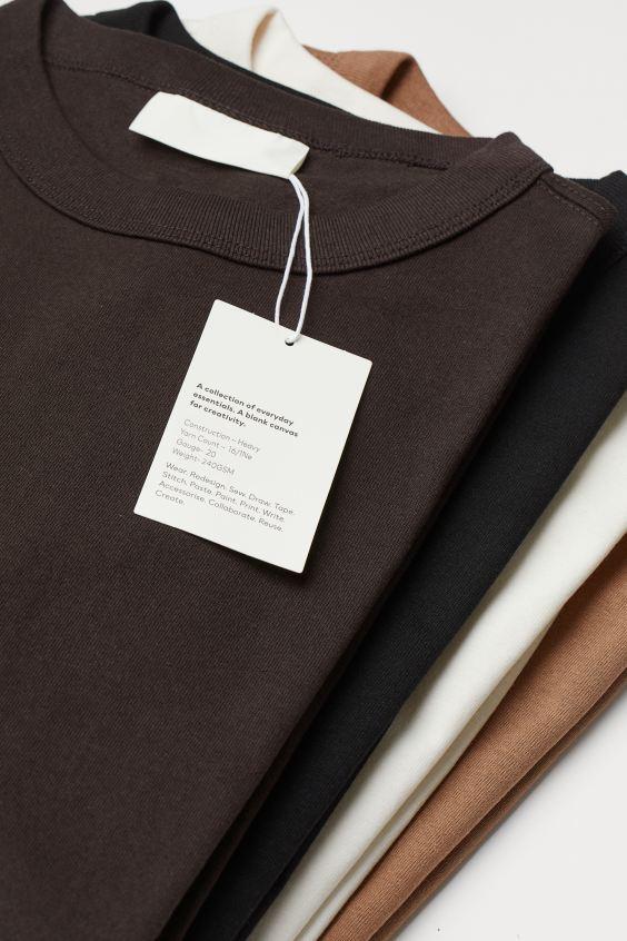 Etichetta bianca H&M Blank Staples