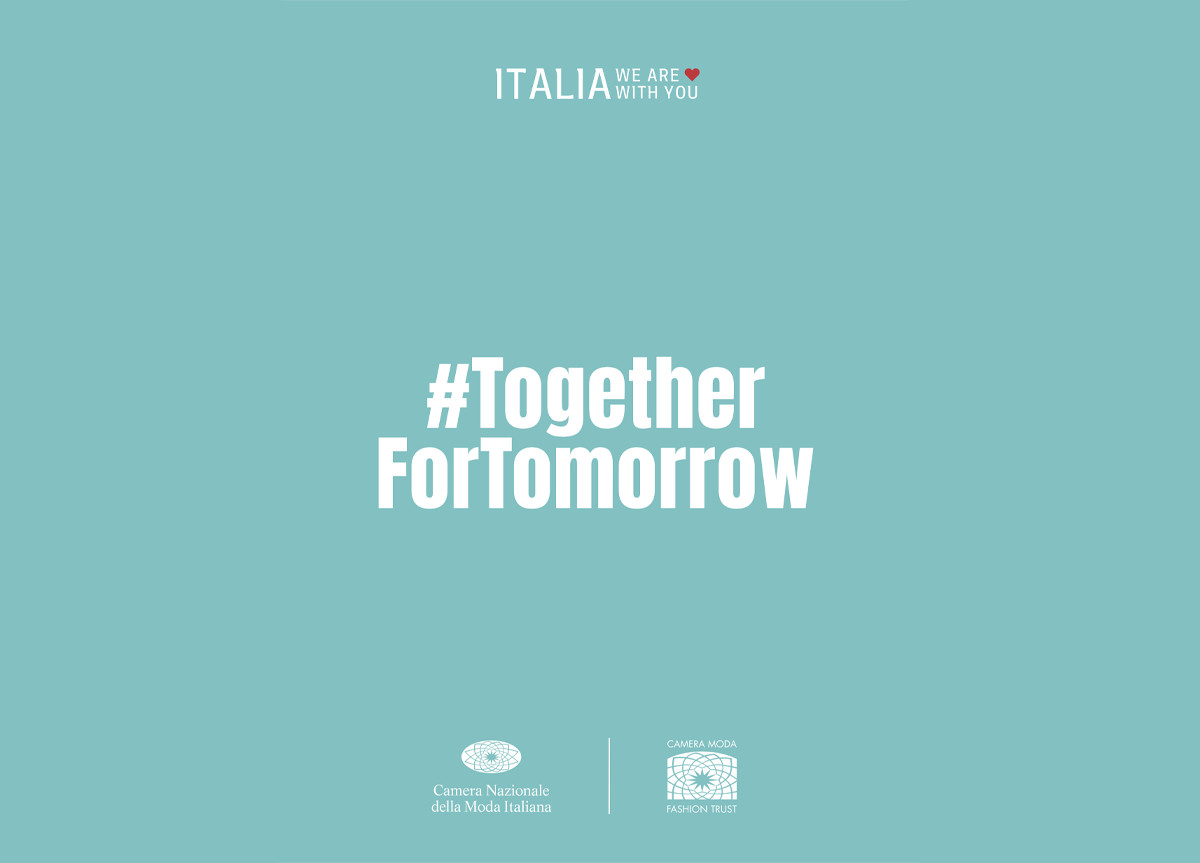 """""""Italia we are with you"""": #TogetherForTomorrow"""