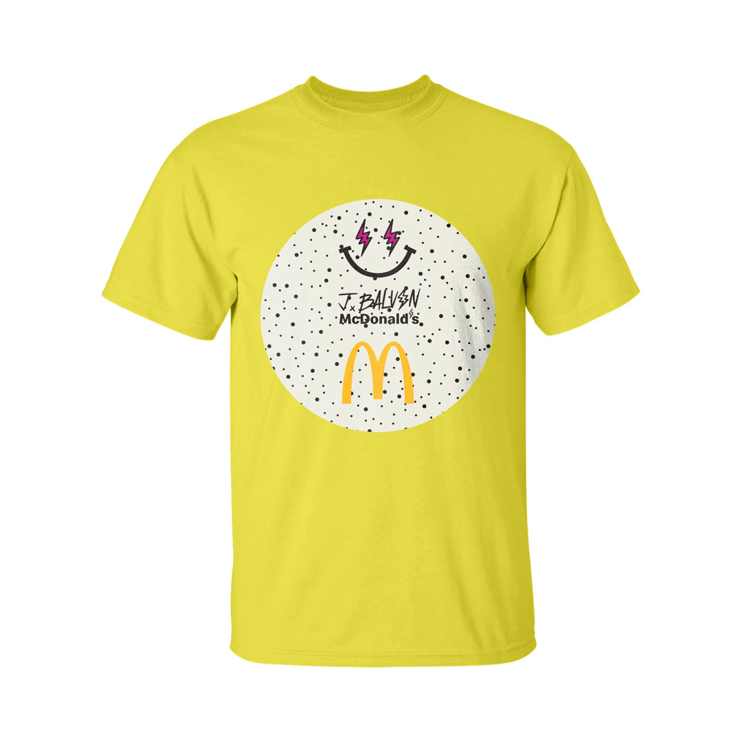 J Balvin x McDonalds T-shirt yellow