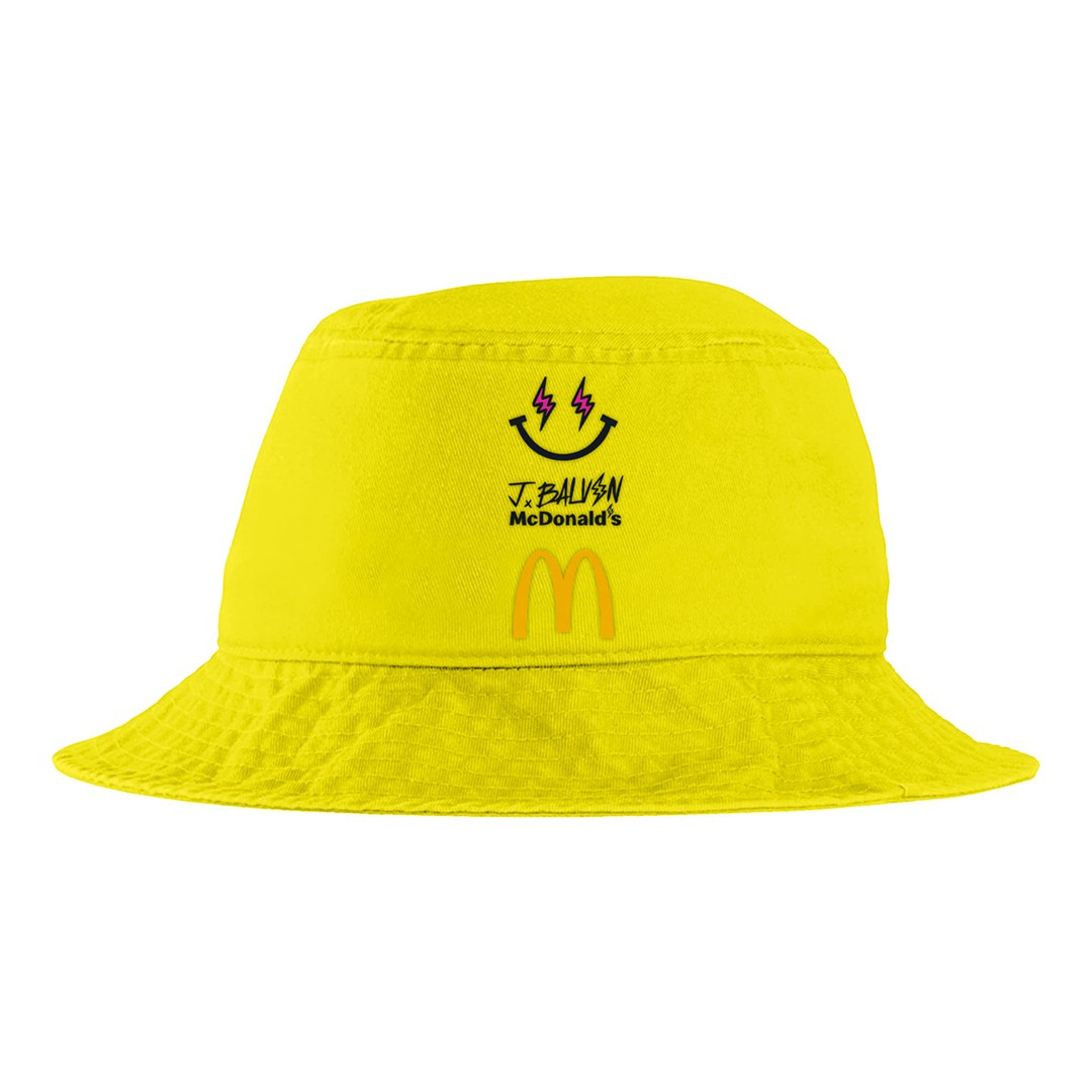 J Balvin x McDonalds bucket hat yellow