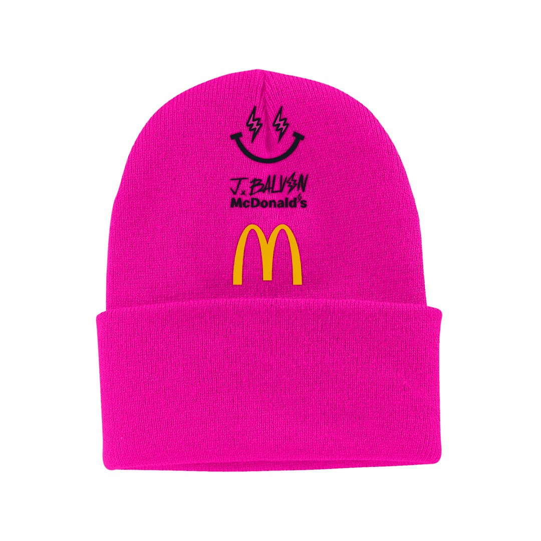 J Balvin x McDonalds beanie