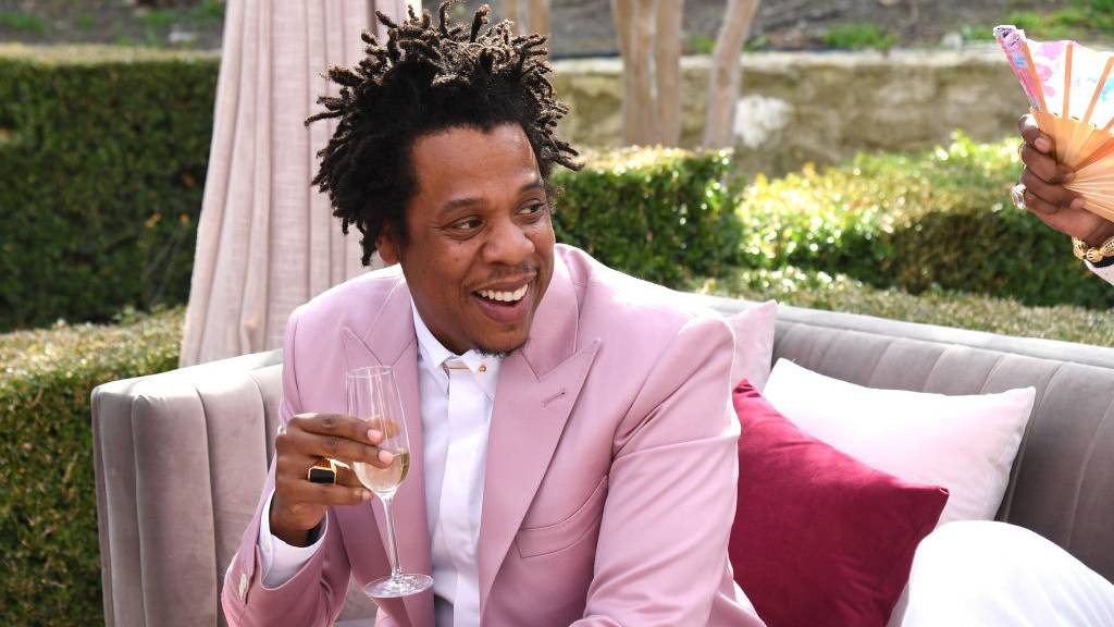 Jay-Z pink suit