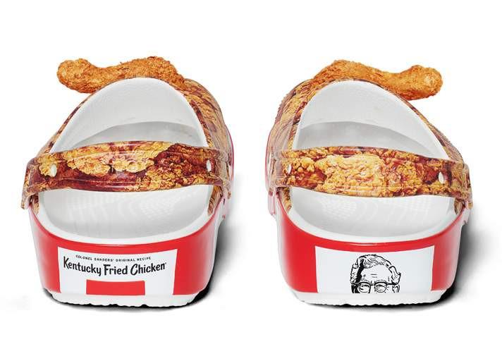 KFC x Crocs Clog stampa pollo fritto heel