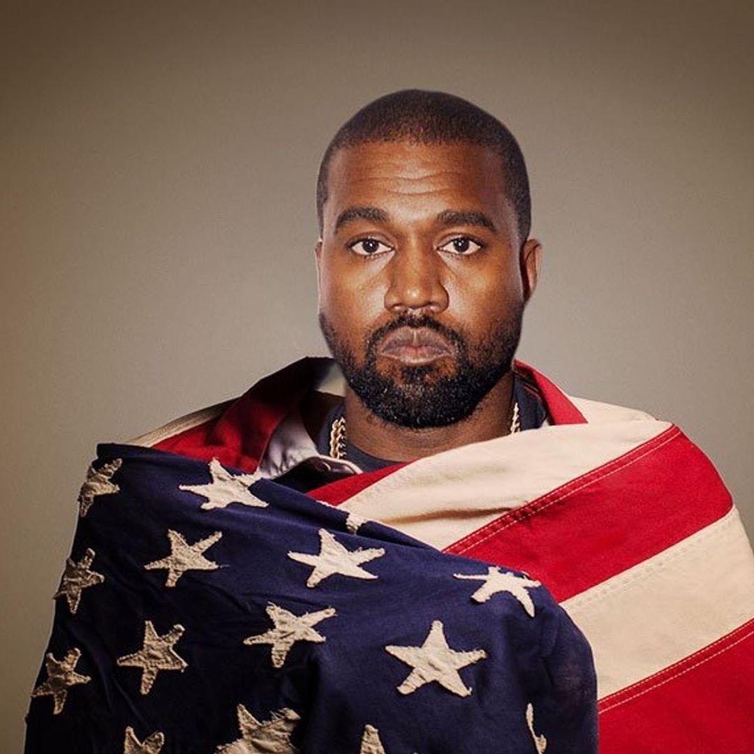 Kanye West bandiera USA
