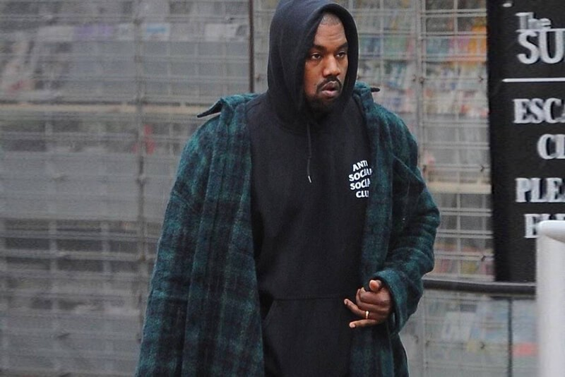 Kanye West Anti Social Social Club Hoodie