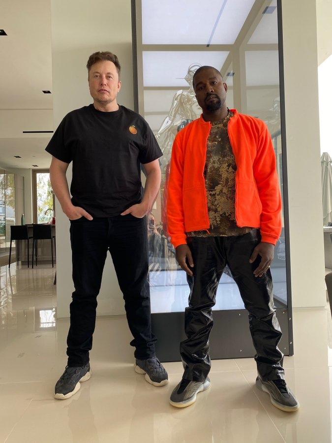 Kanye West insieme ad Elon Musk