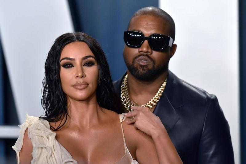 Kanye West e sua moglie Kim Kardashian