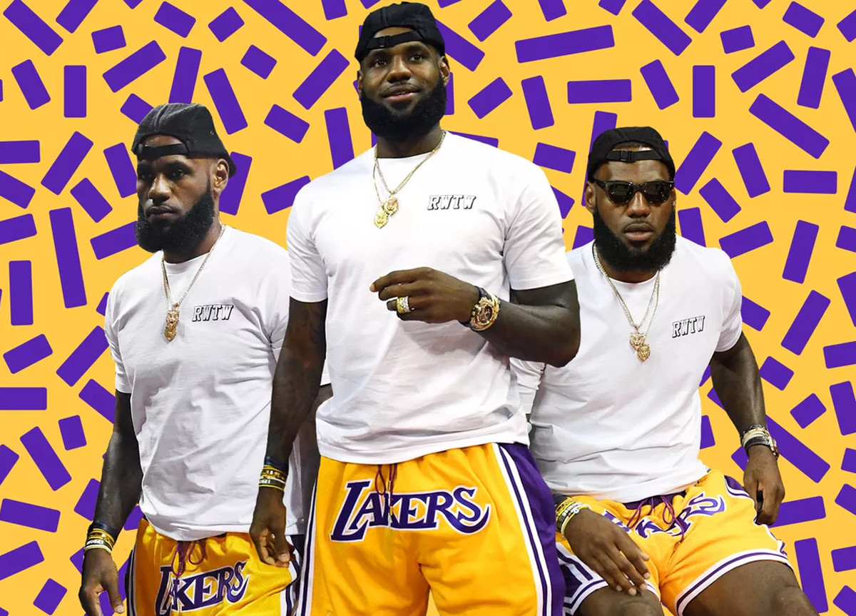 Lakers Shorts LeBron James