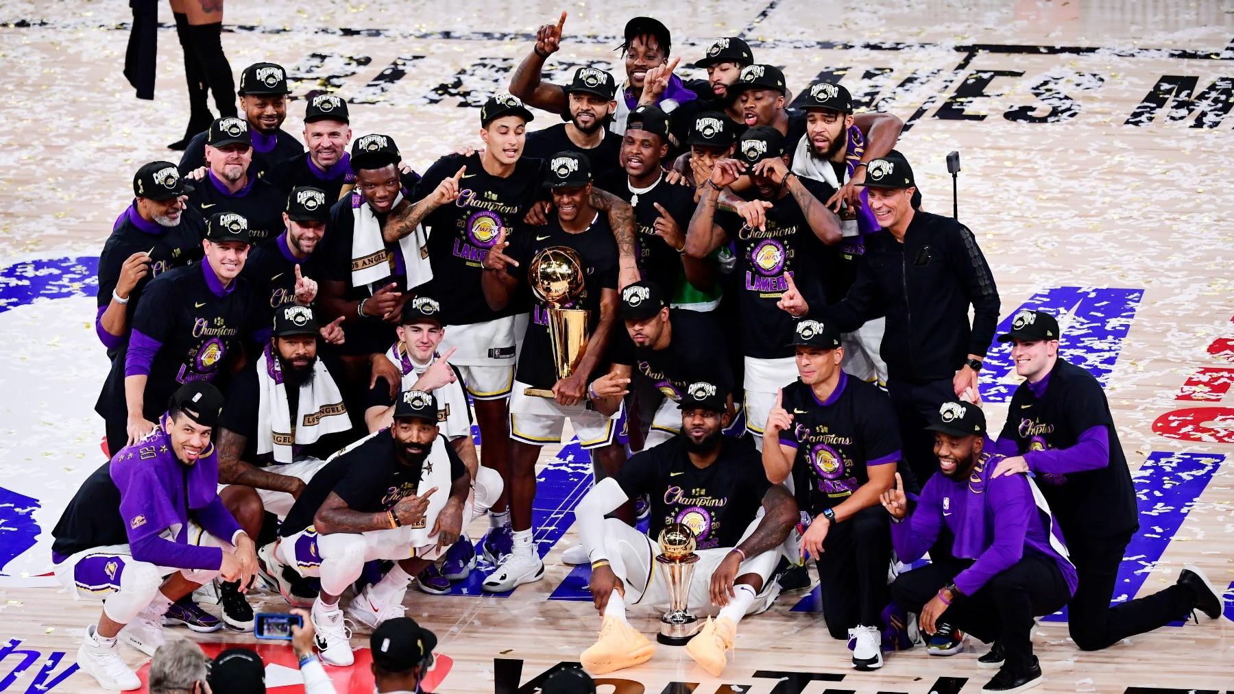 Lakers NBA Finals 2020 premiazione