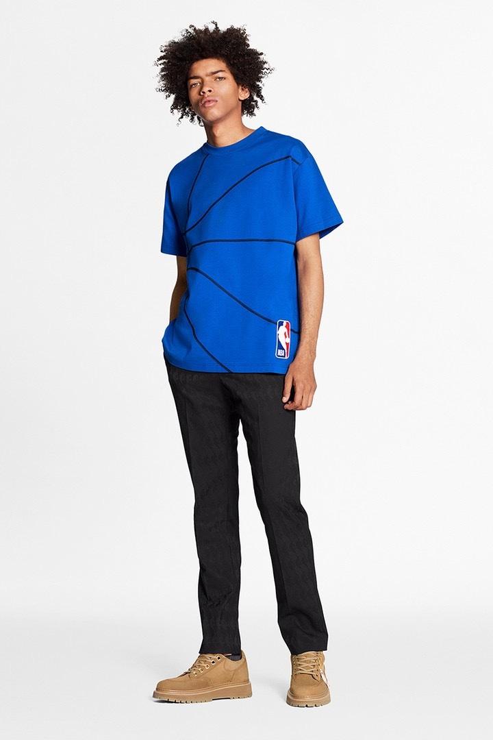 Louis Vuitton NBA T-shirt blu