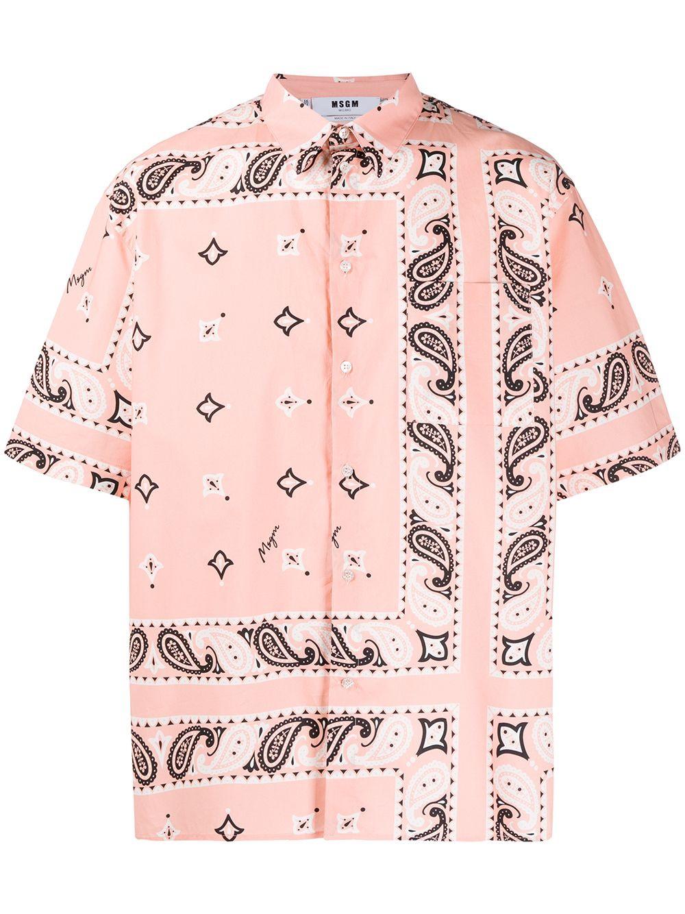 MSGM camicia paisley