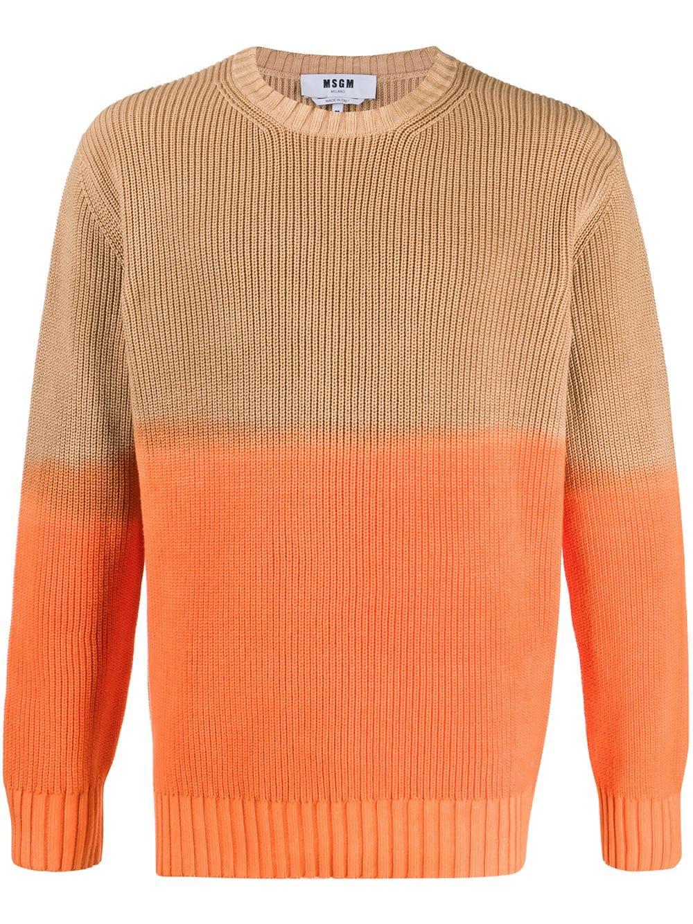 MSGM maglione bicolore