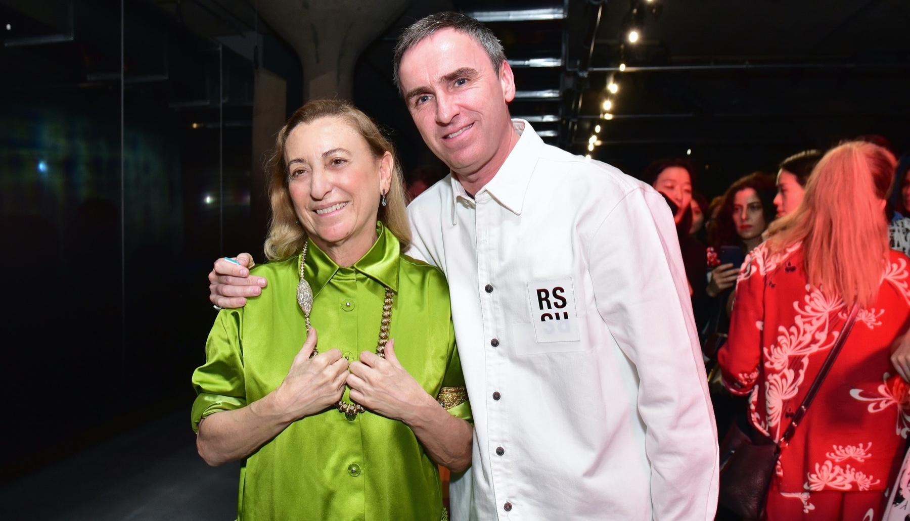 Miuccia Prada e Raf Simons