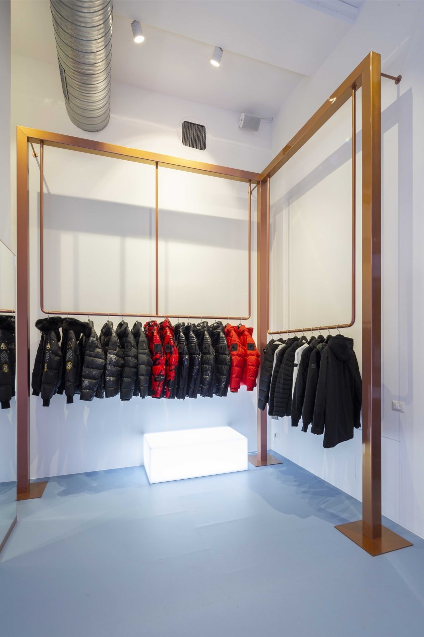 Moose Knuckles Milano pop up store