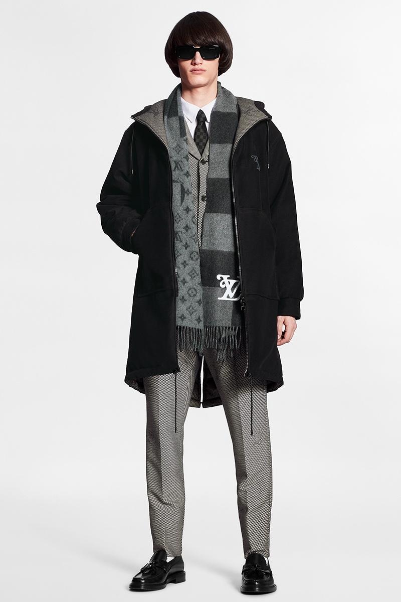 Louis Vuitton x Nigo LV2 Parka in pelle scamosciata