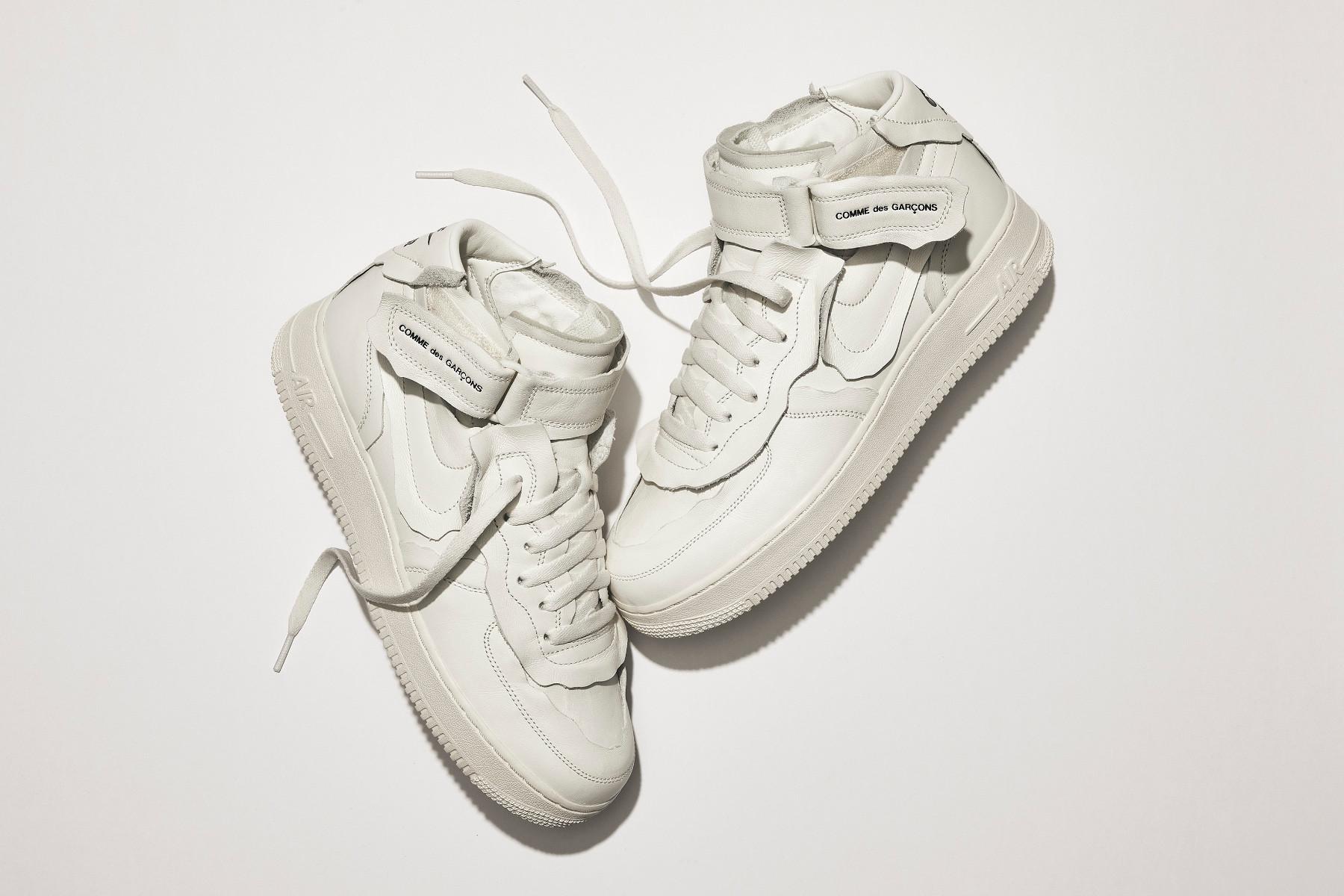 COMME des GARÇONS x Nike Air Force 1 Mid white CDG
