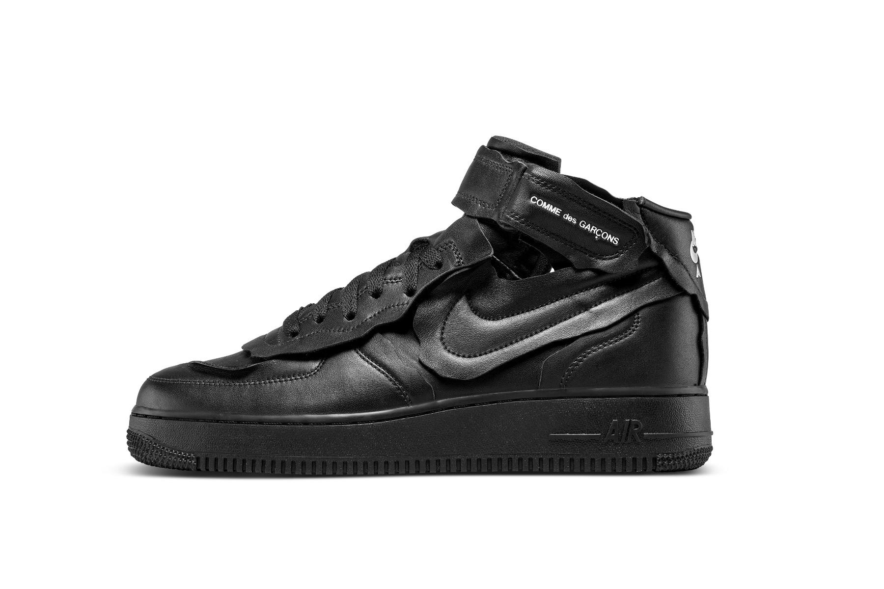 COMME des GARÇONS x Nike Air Force 1 Mid black CDG