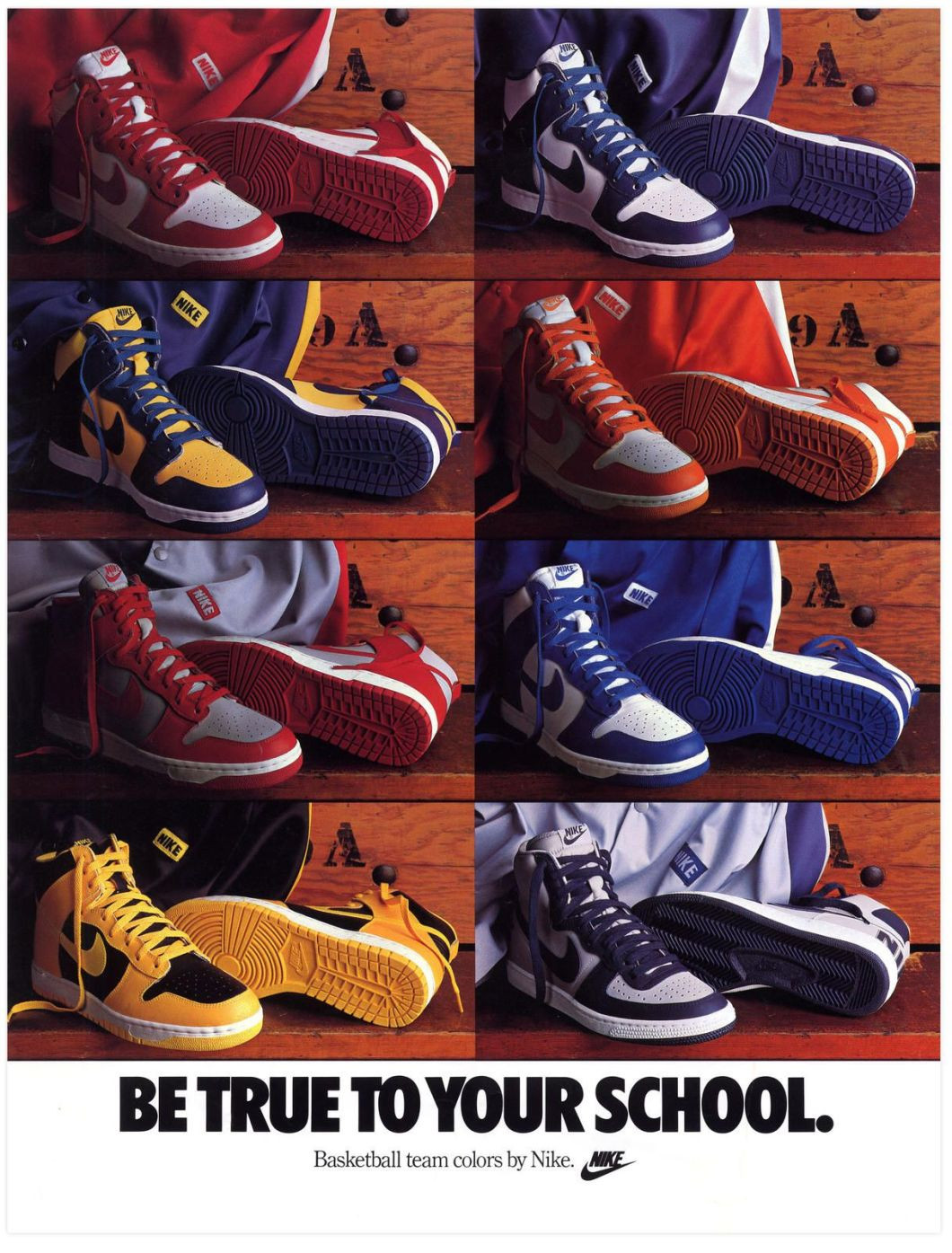 """Nike Dunk High """"Be True to Your School"""""""