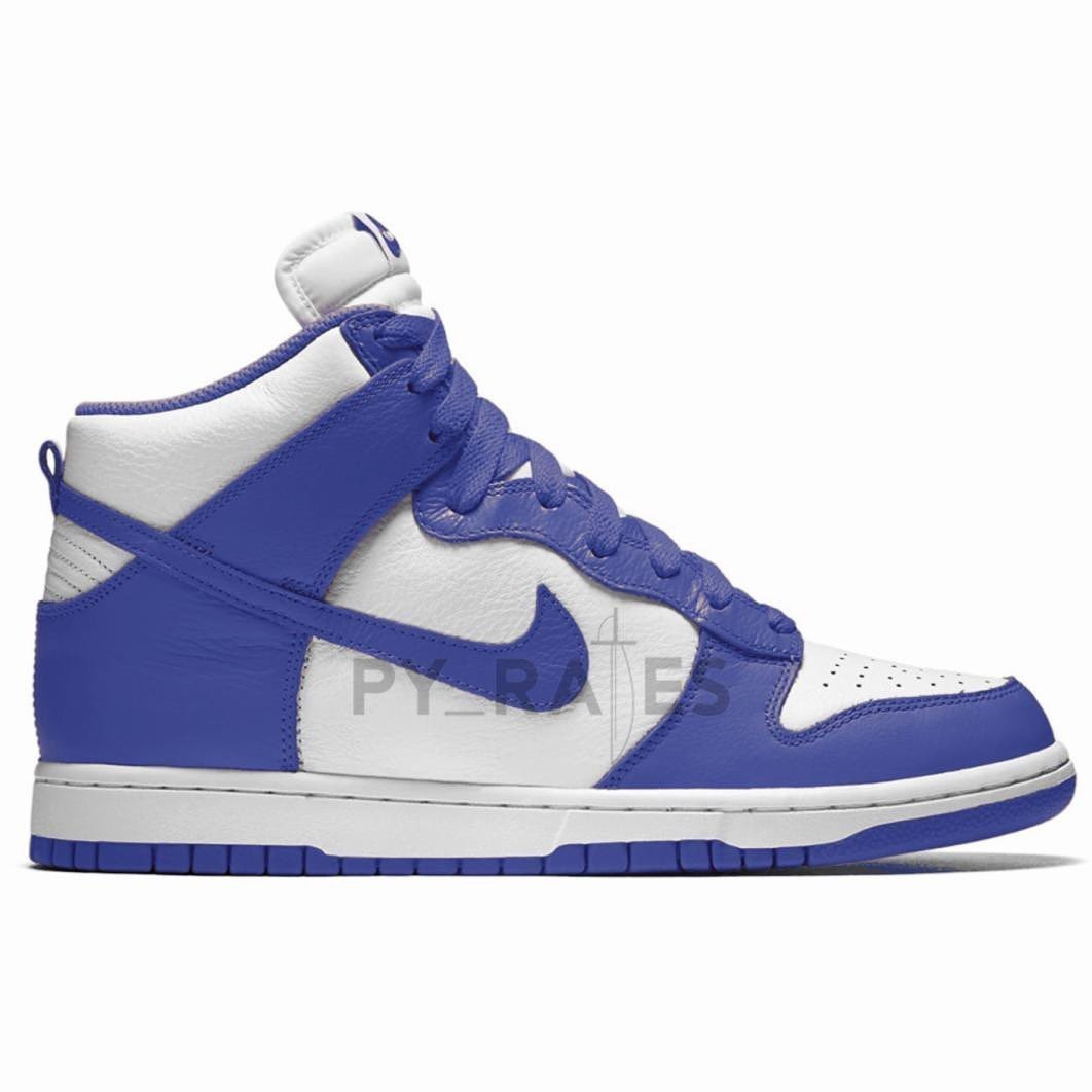 Nike Dunk High White Game Royal
