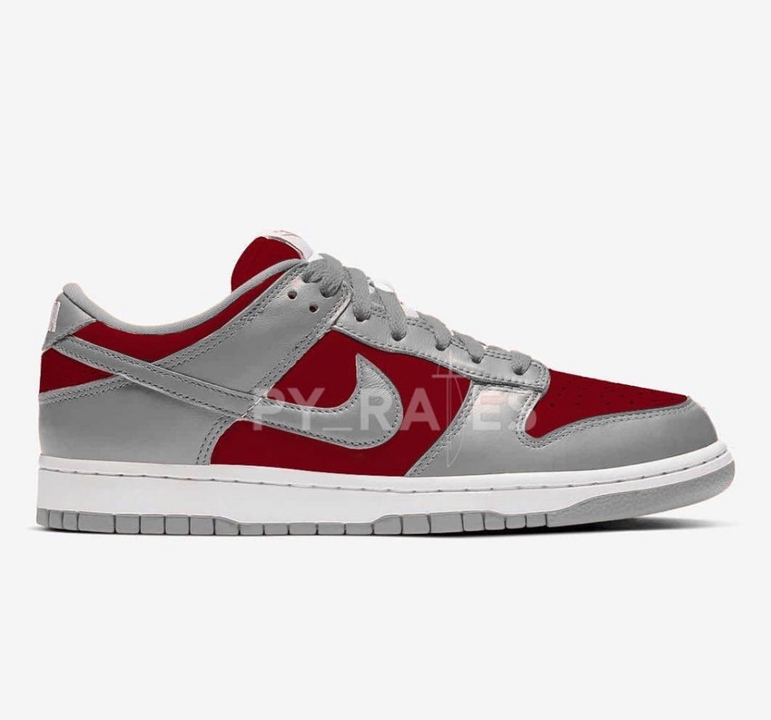 Nike SB Dunk Low Silver/Bordeaux