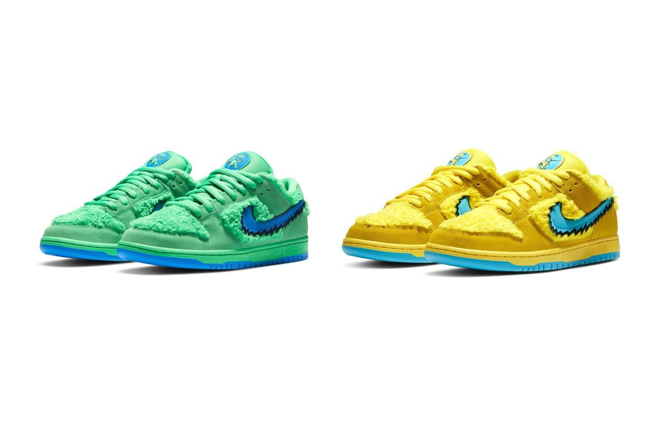 """Due colorazioni Nike SB Dunk Low """"Grateful Dead"""""""
