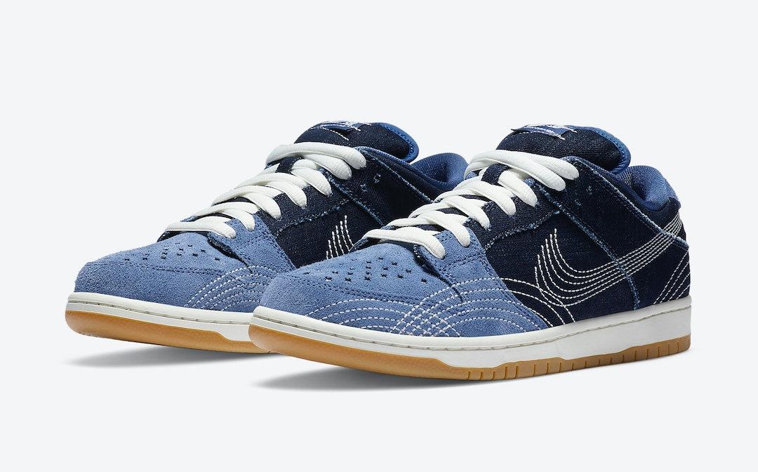 "Nike SB Dunk Low ""Sashiko Denim"" release date 1 agosto"