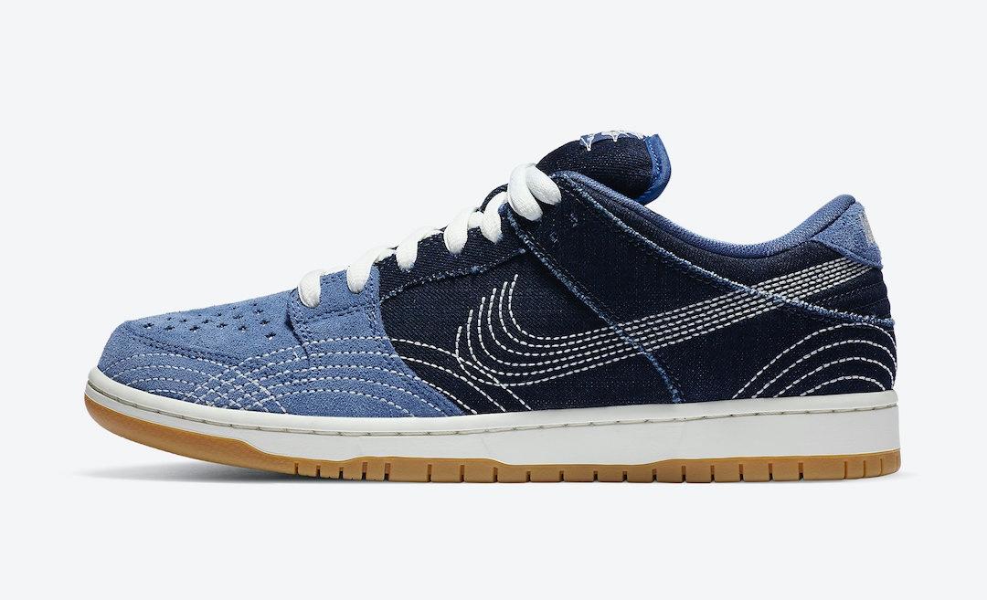 Nike SB Dunk Low Sashiko Denim data di uscita 1 agosto