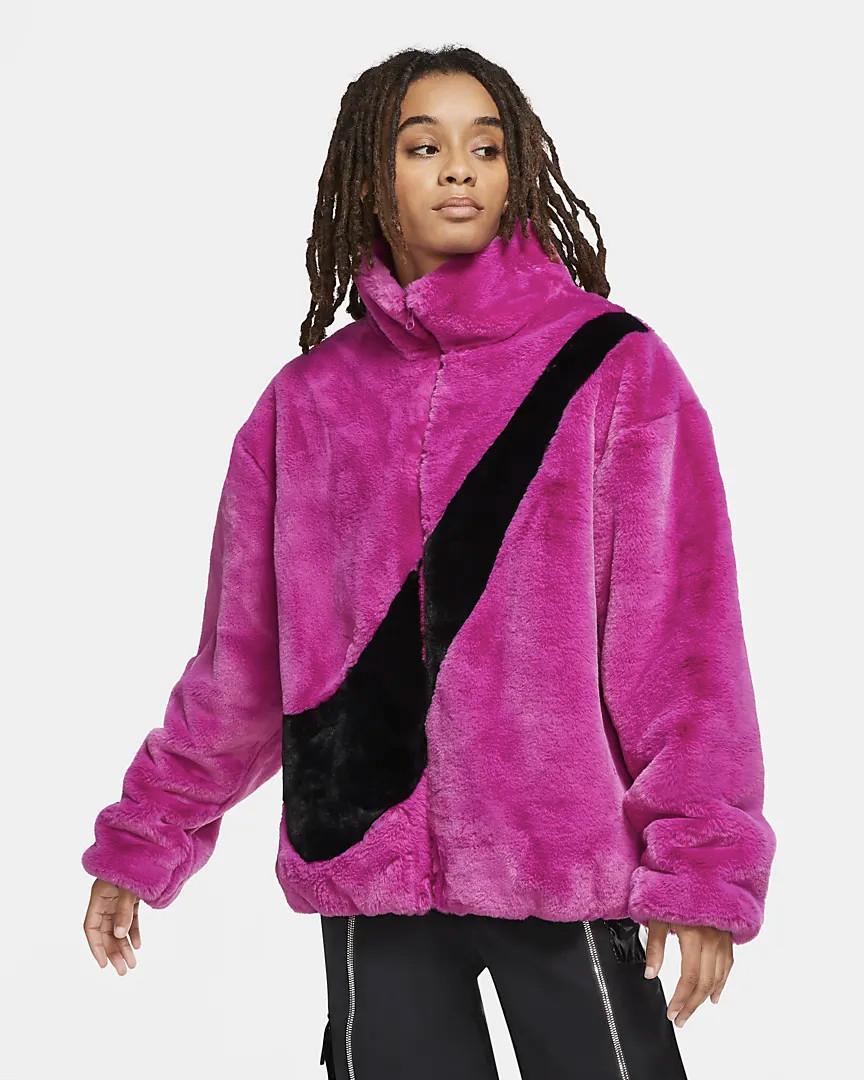 Nike giacca ecopelliccia Big Swoosh pink