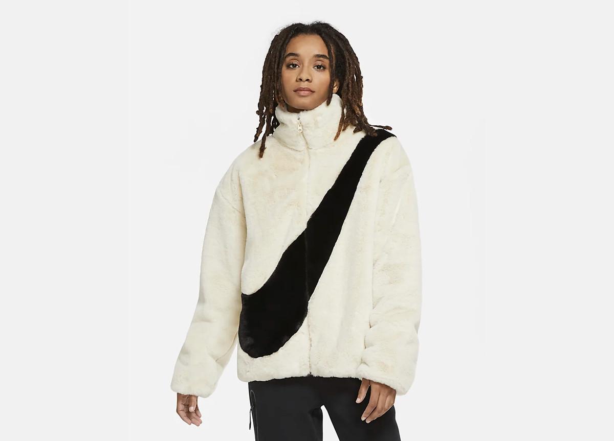Nike giacca ecopelliccia Big Swoosh