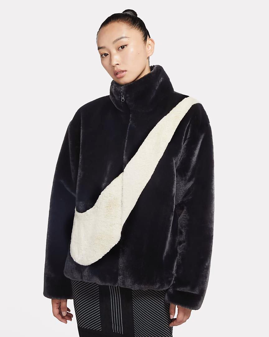 Nike giacca ecopelliccia Big Swoosh black
