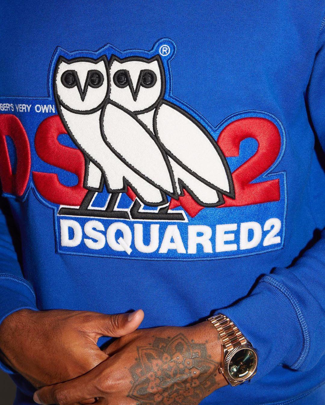 OVO x Dsquared2 co-branding hoodie