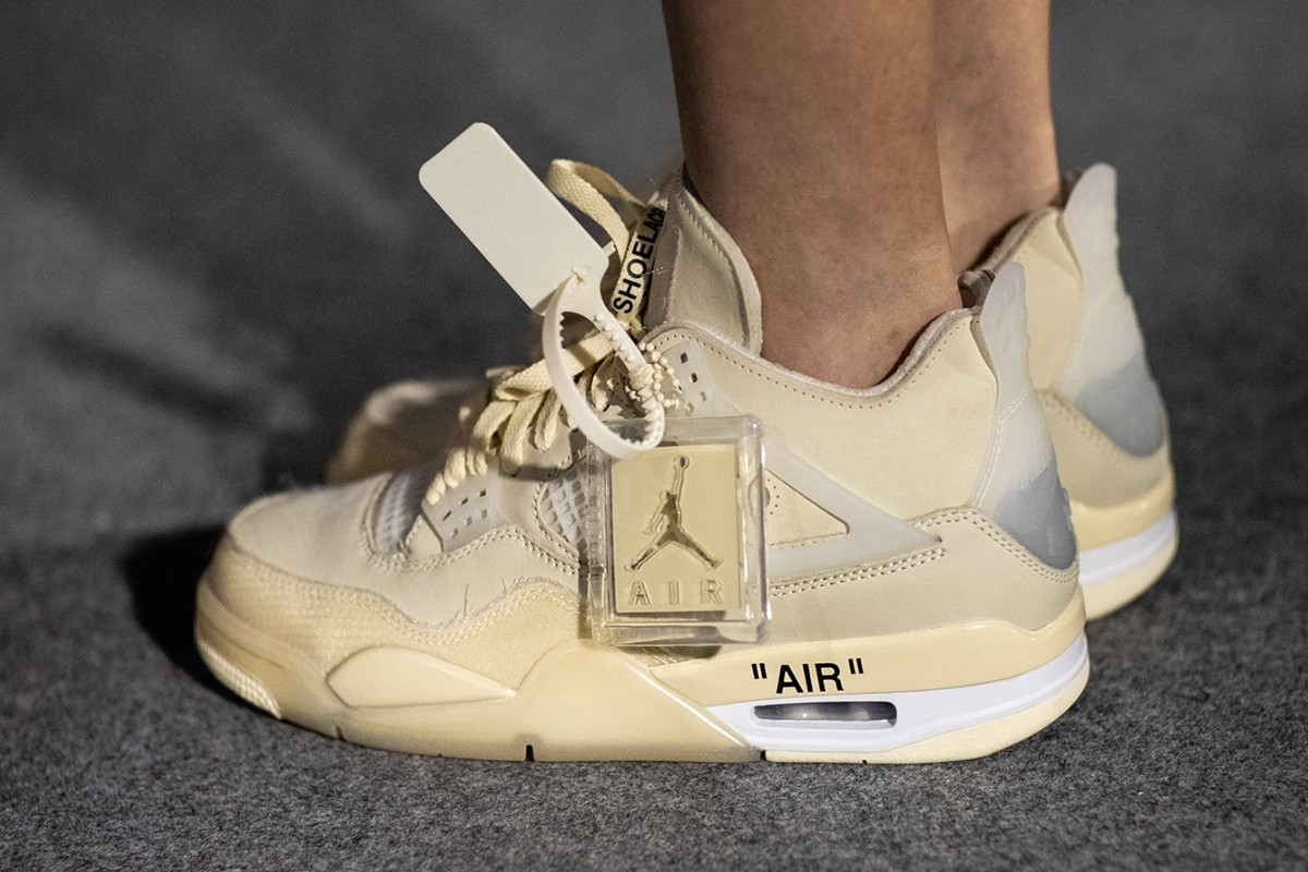Off White Air Jordan 4 Cream