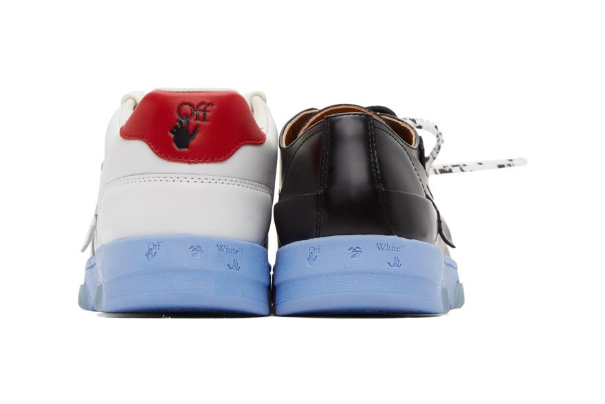 "Off-White Mismatched Sneakers ""Black and White Half-Half"""