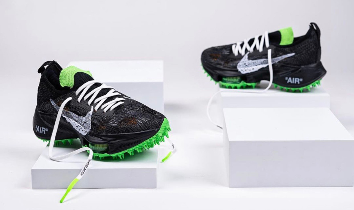 Off-White x Nike Air Zoom Tempo NEXT% green
