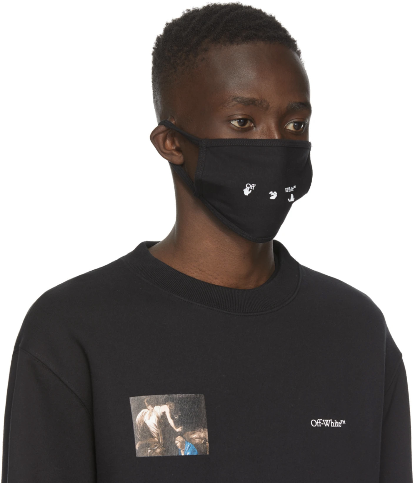 Off-White face mask nuovo logo