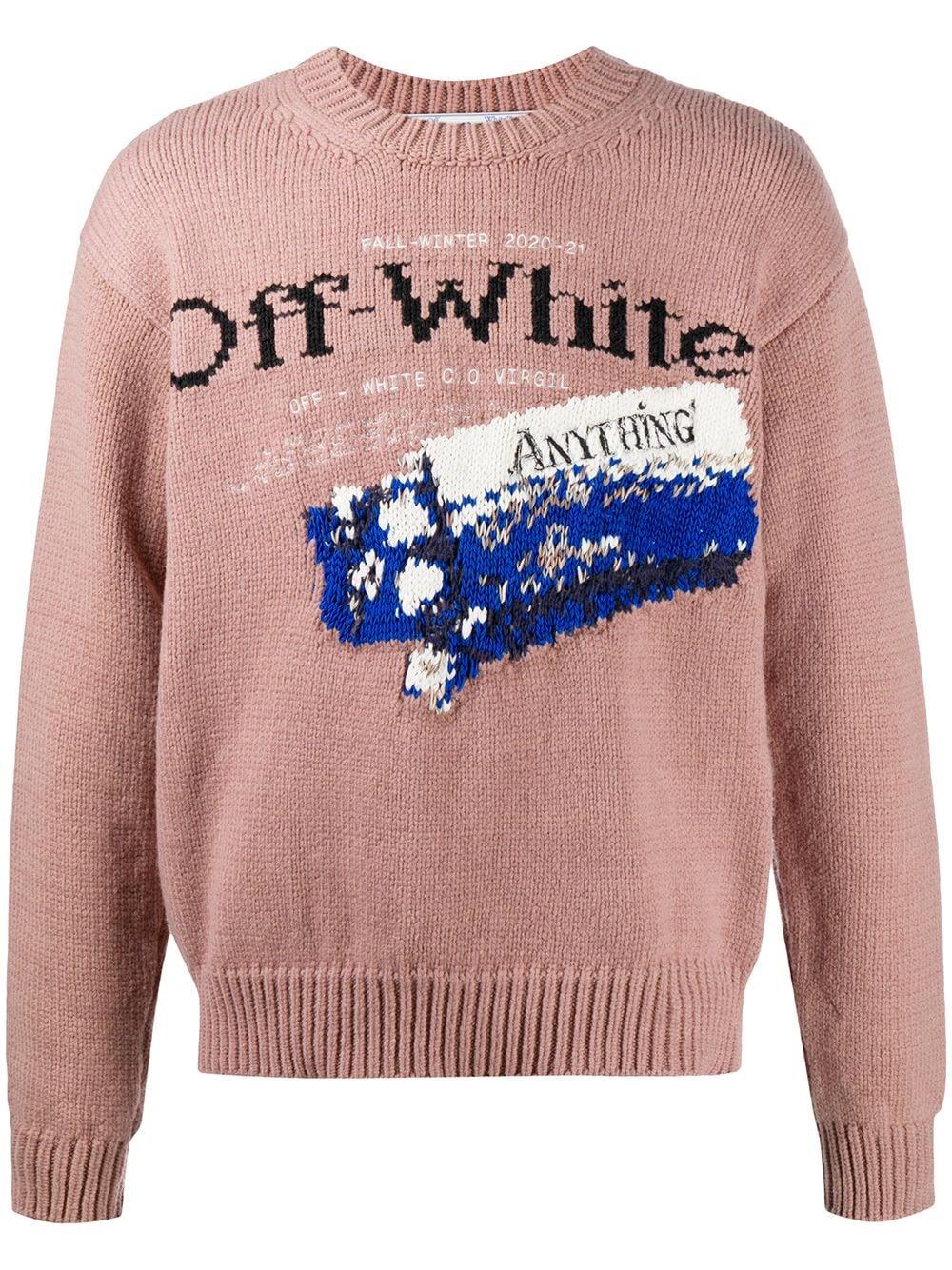 Off-White maglione con grafica