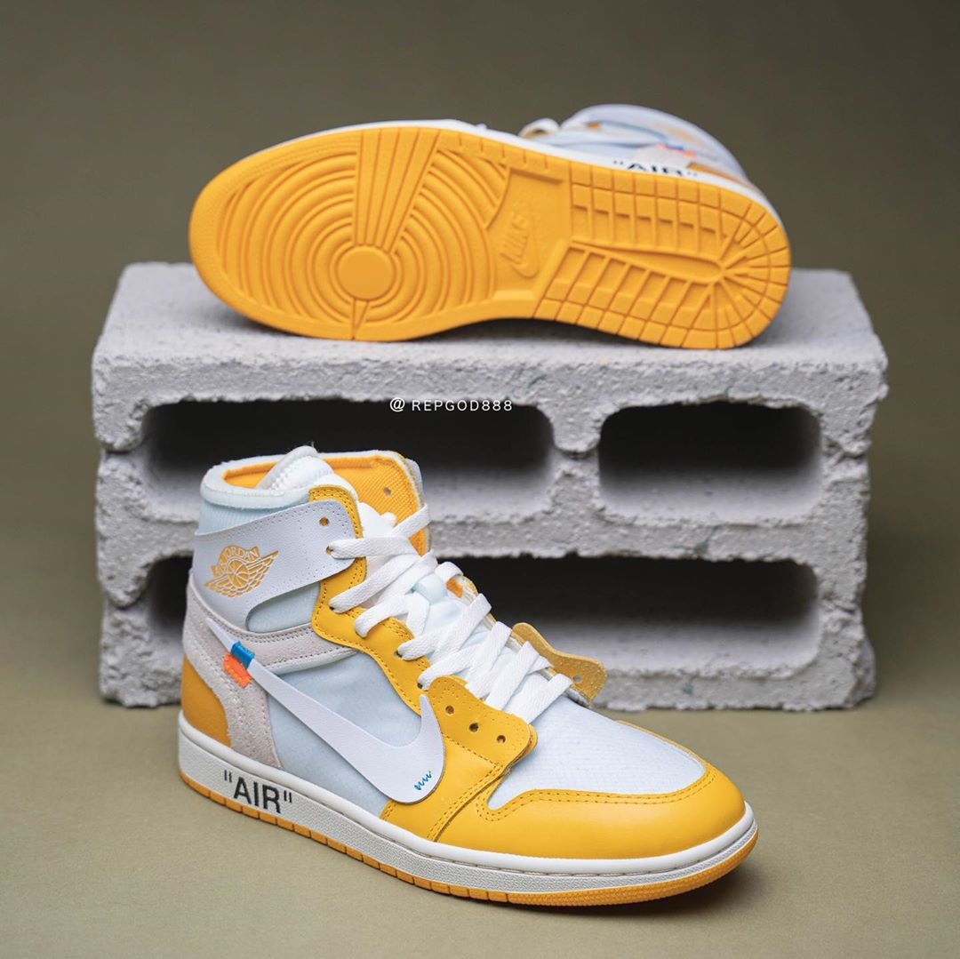 "Off-White x Air Jordan 1 ""Canary Yellow"""