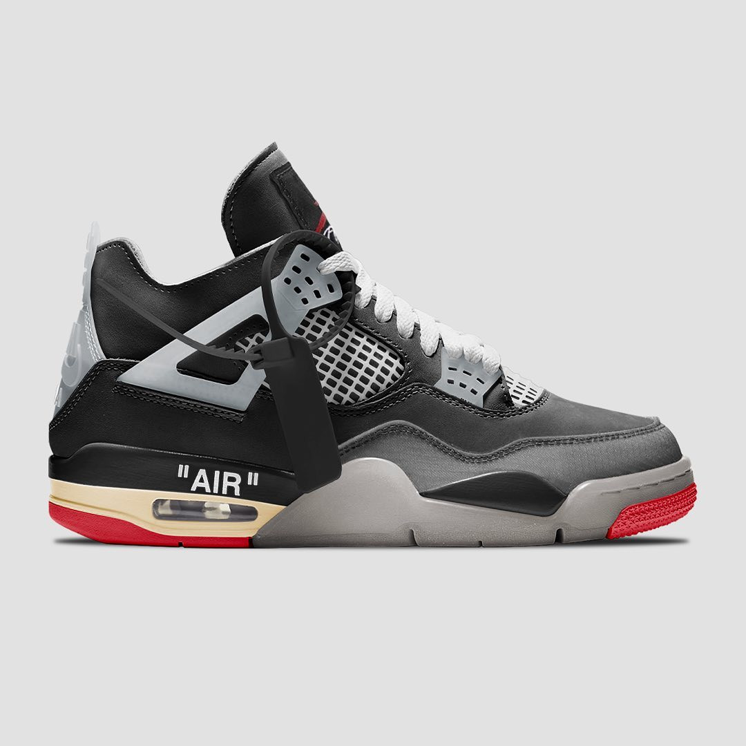 "Off-White x Air Jordan 4 ""Bred"""