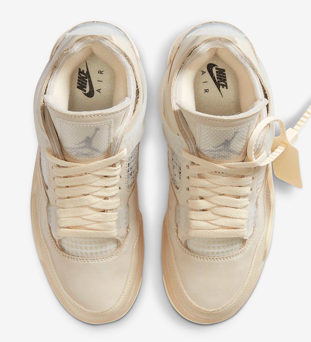 Tongue Off-White x Air Jordan 4 Sail