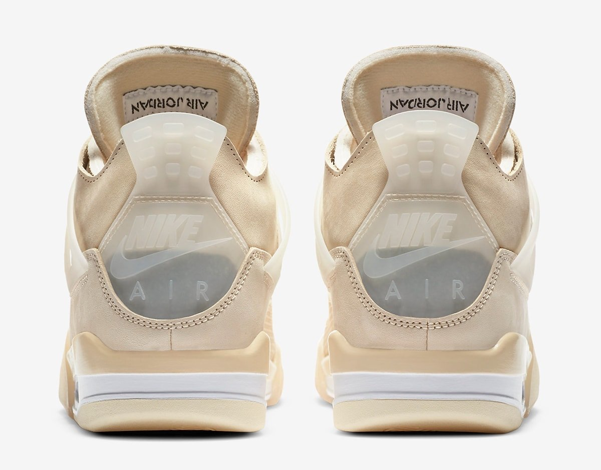 Heel in plastica Off-White x Air Jordan 4 Sail