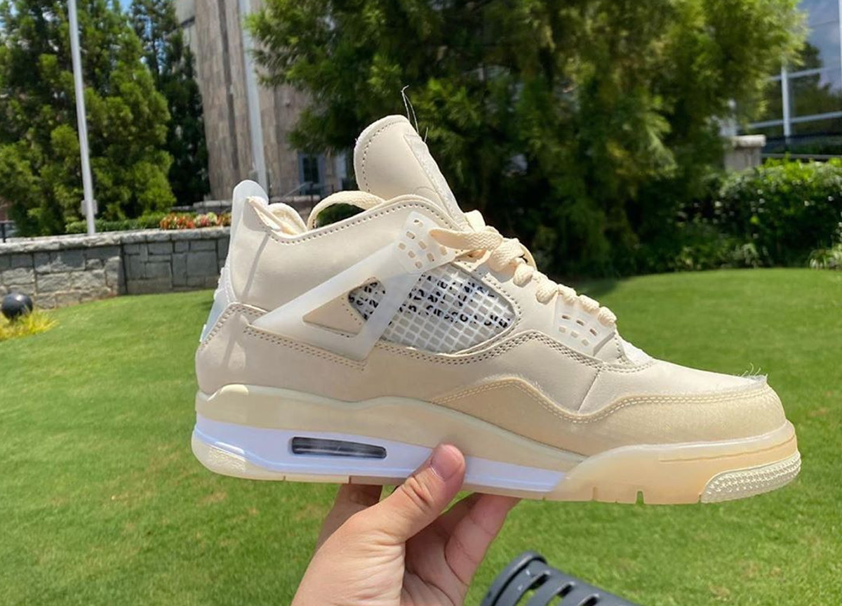 "Off-White x Air Jordan 4 ""Sail"""