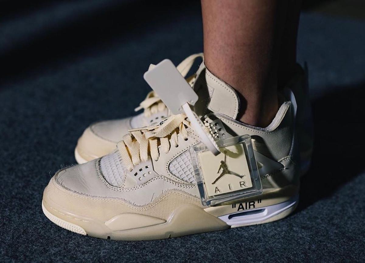 """Off-White x Air Jordan 4 """"Sail"""""""