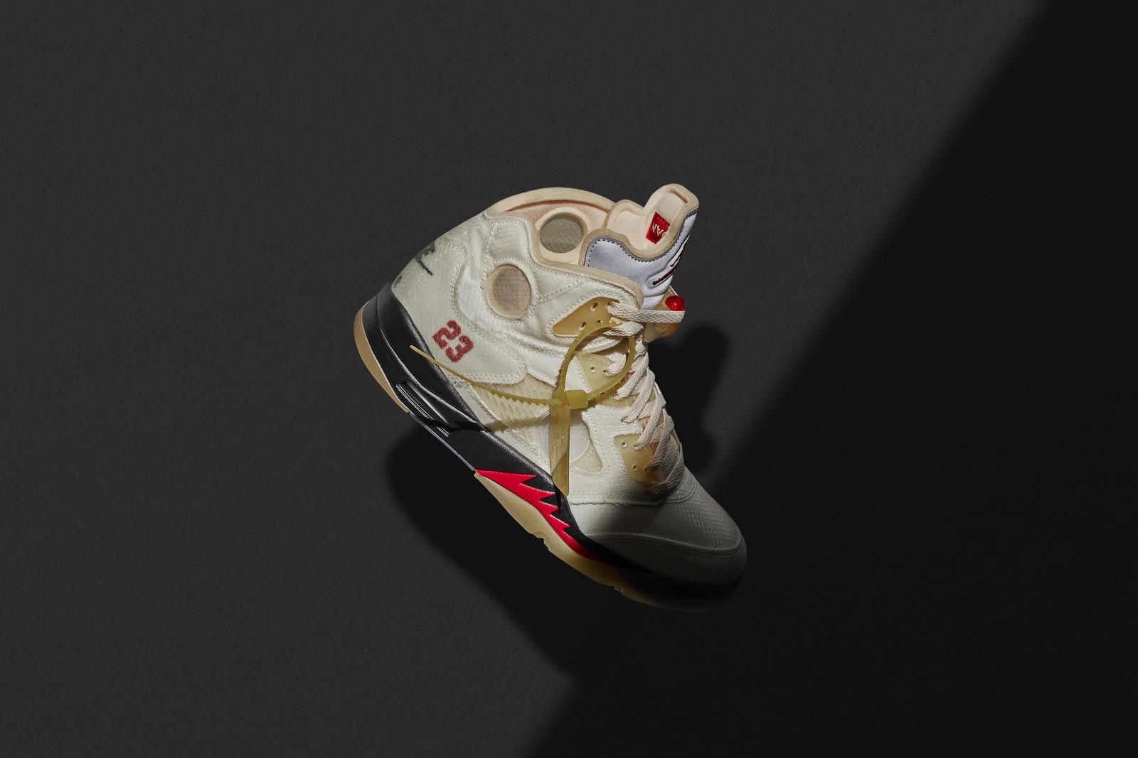 """Off-White x Air Jordan 5 """"Sail"""""""