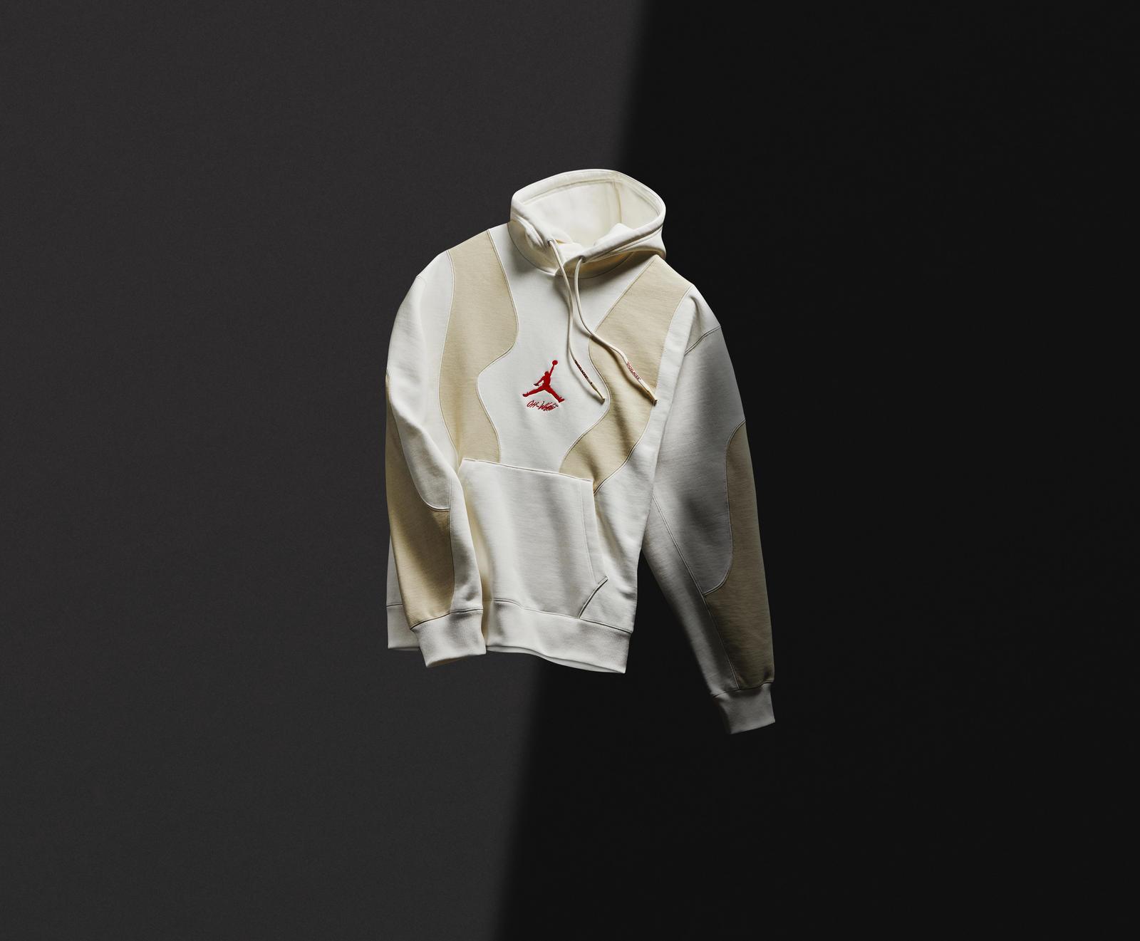 """Off-White x Air Jordan 5 """"Sail"""" Hoodie"""