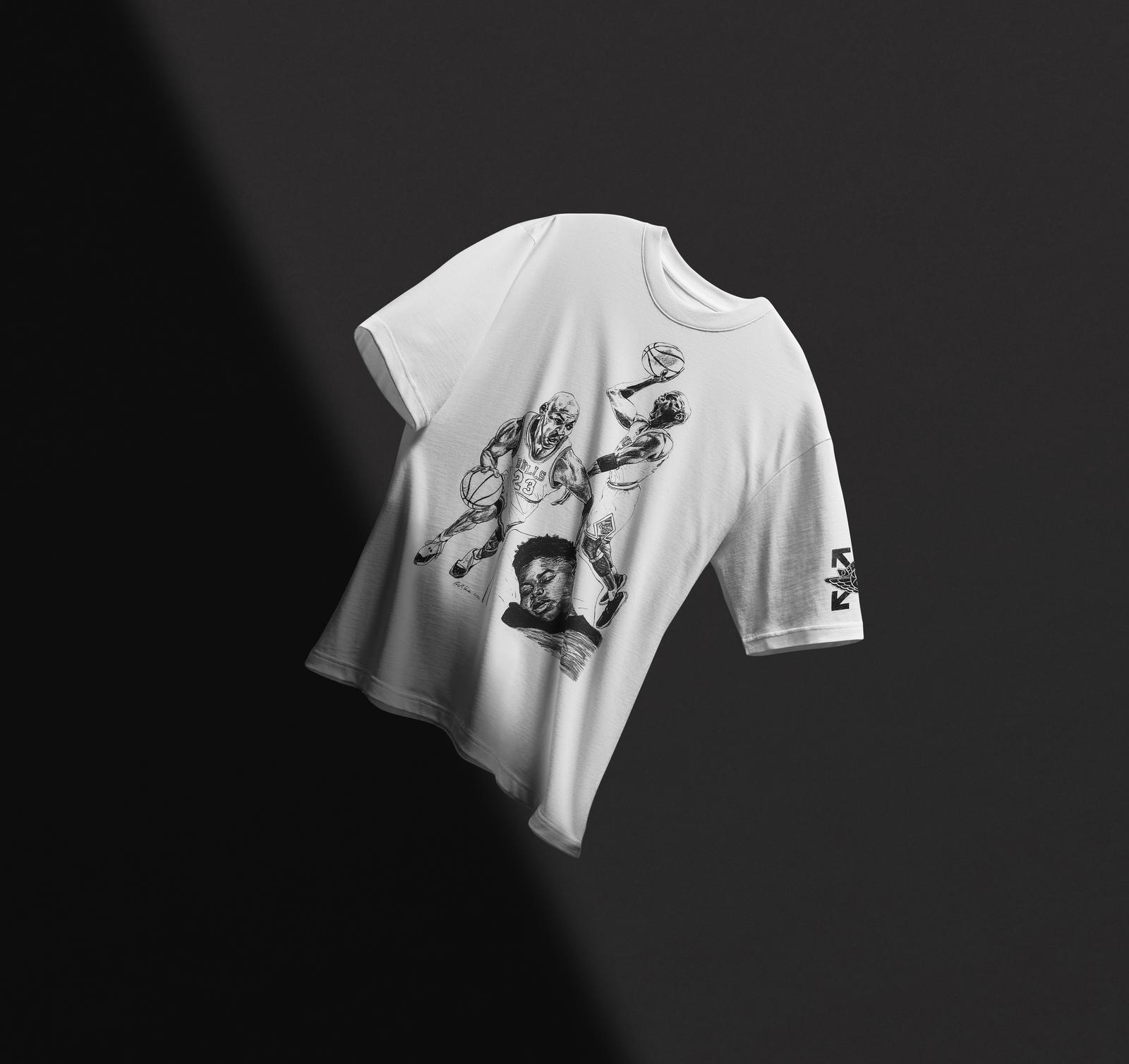 """Off-White x Air Jordan 5 """"Sail"""" T-shirt"""