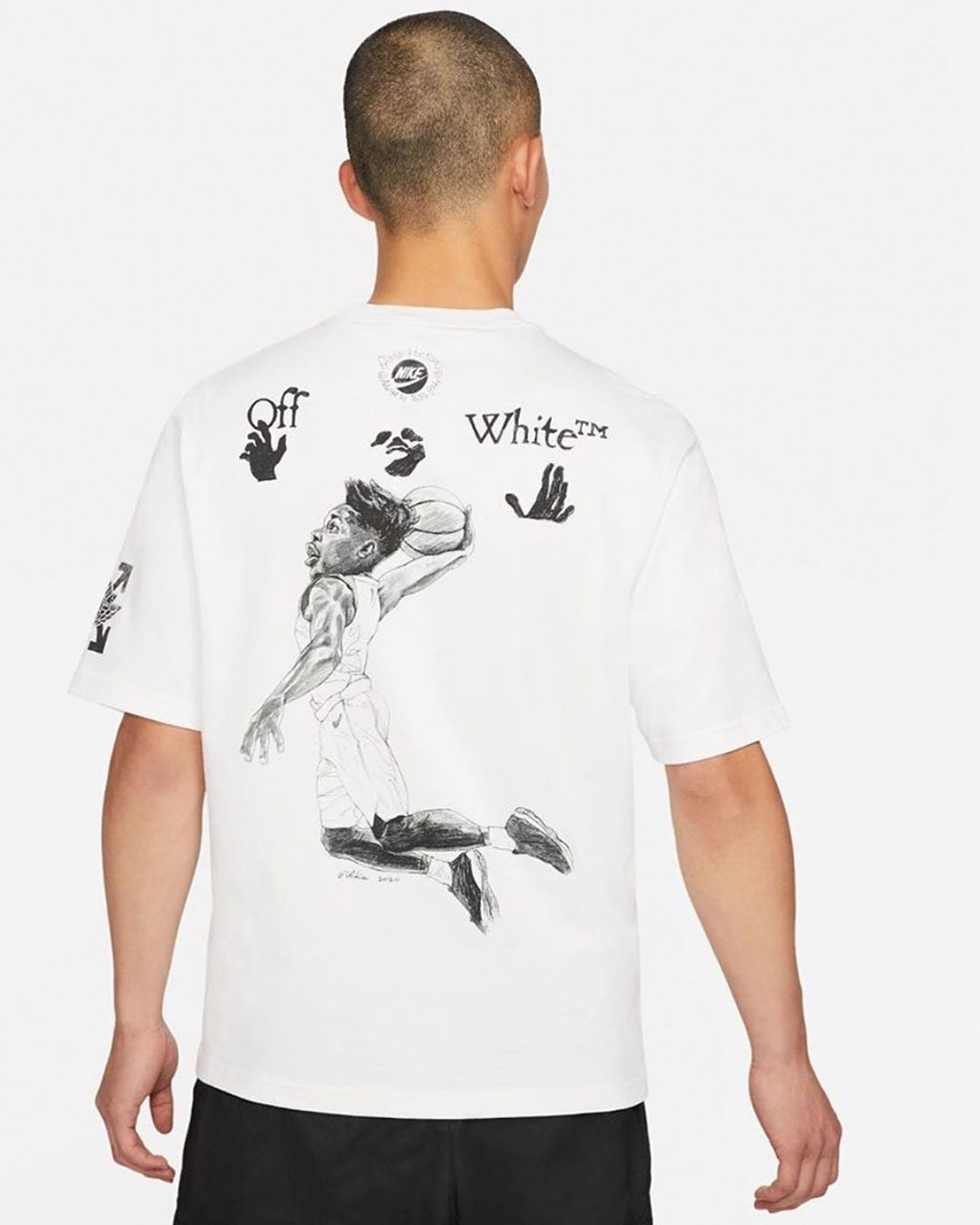 Off-White x Jordan Brand Air Jordan 5 Sail T-shirt