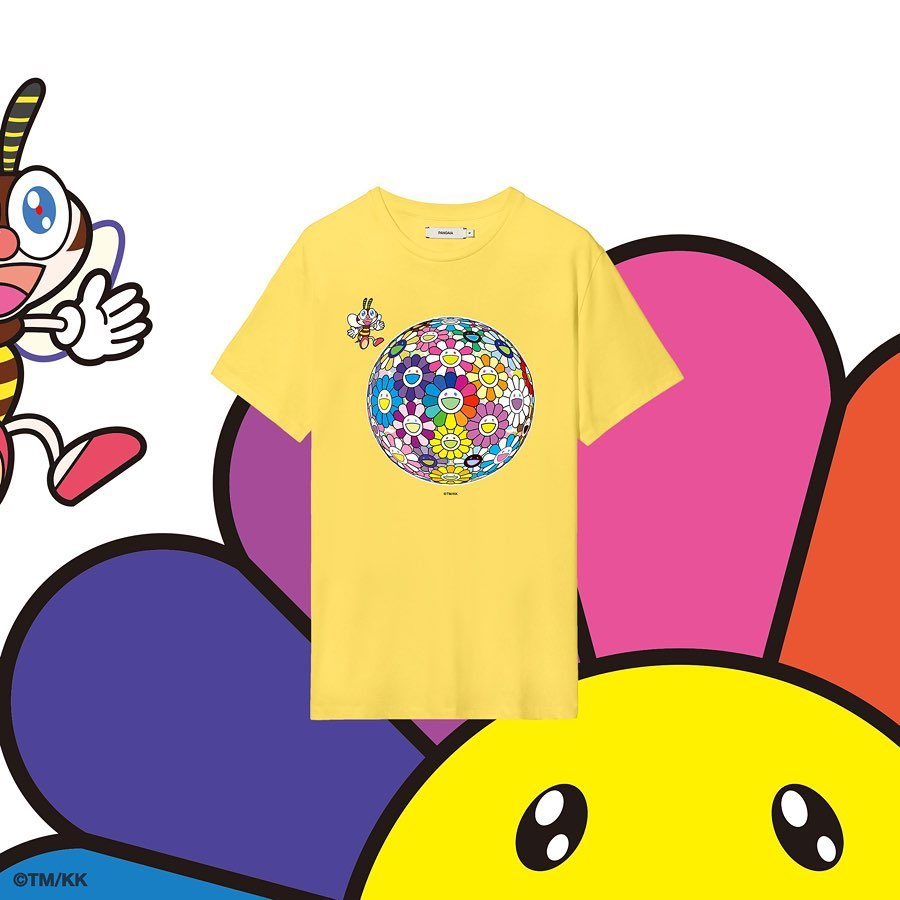 PANGAIA x Takashi Murakami T-shirt gialla