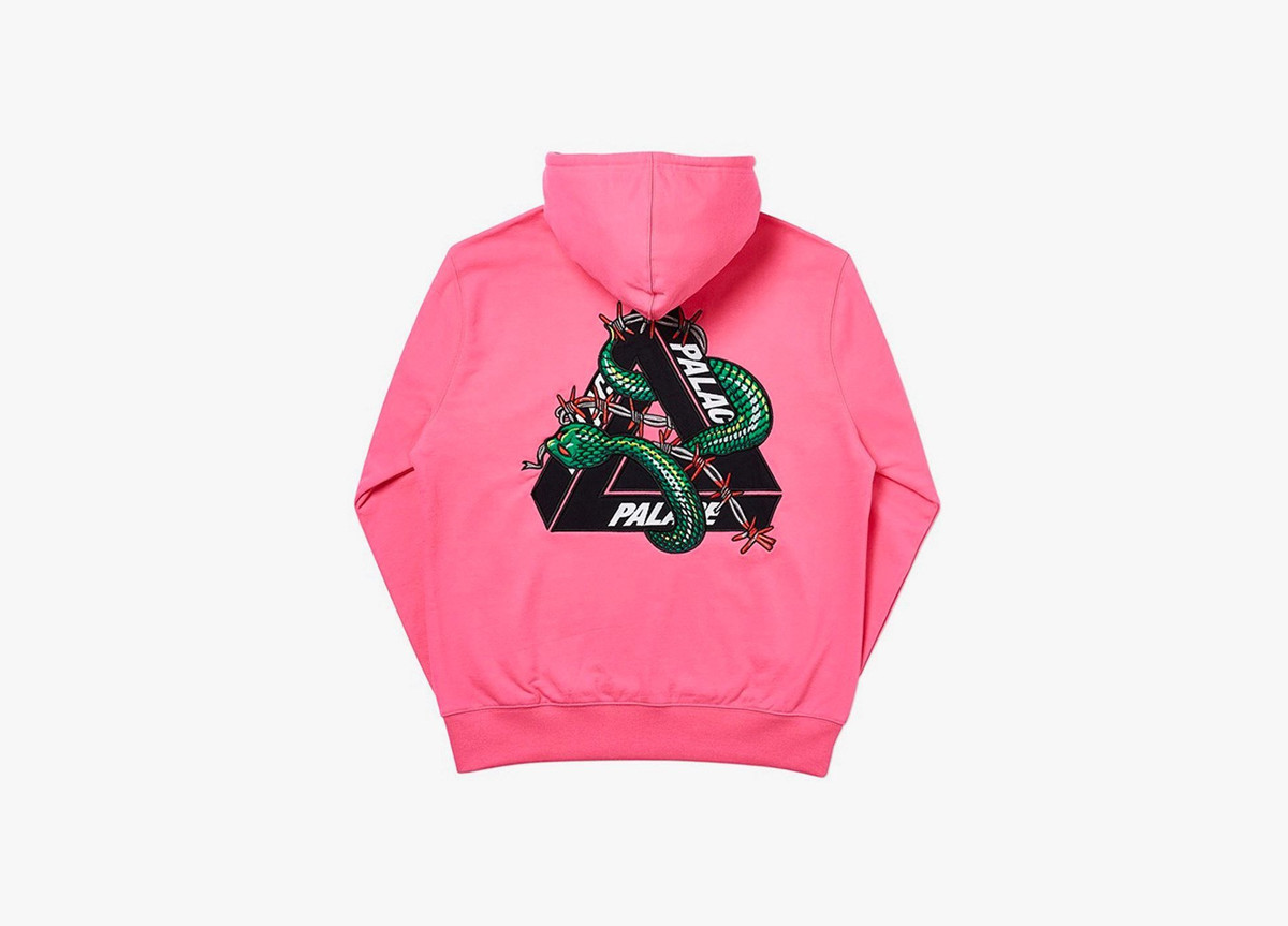 Palace Hesh Mit Fresh Hoodie Pink